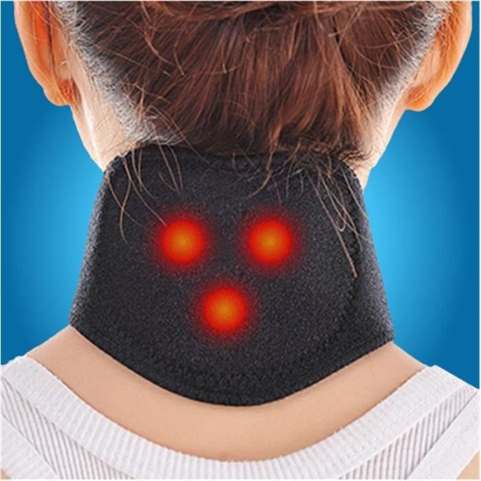 Coussin de Cou de thérapie magnétique thermostat magnétique thermique auto-chauffant pour soulager la douleur cervicale, etc., Noir