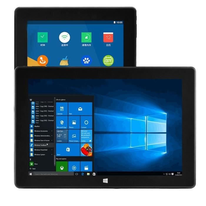 Tablette Pc, Android/Windows, 10.1 Pouces, 4Gb+64Gb, Noir