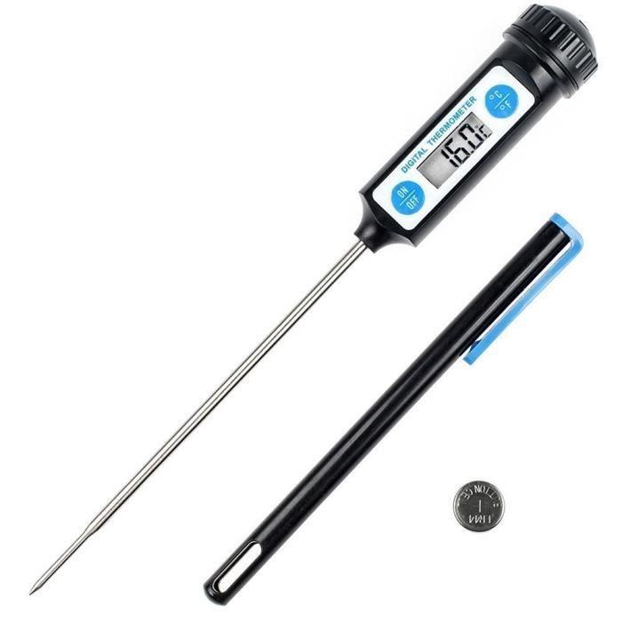 GORIFEI® Thermomètre de Cuisson,Thermomètres de Cuisine Thermomètre Numérique Digital avec Sonde Longue et LCD Ecran
