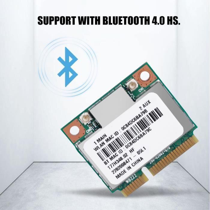 Carte Réseau Wi-Fi avec Bluetooth Adaptateur PCI Express Double Bande sans Fil -TUN