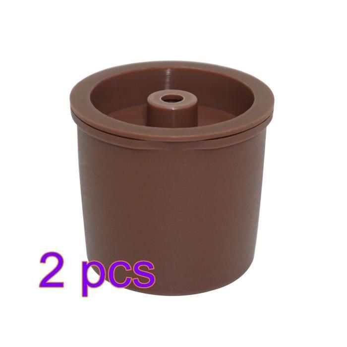 Petit déjeuner - Café,Capsules de café réutilisables, compatibles avec Illy, rechargeables, filtres pour cuisine - Type 2pcs brown