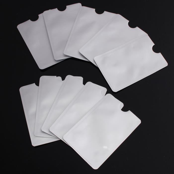 10X Pochette de protection Etui protecteur securité RFID / NFC pour carte bancaire