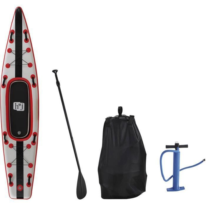 Paddle -Sup wave K1- - 365 x 76 x 15 cm - Rouge
