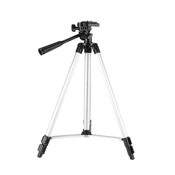 Docooler JF-3110 Trépied en aluminium 35-102cm Support de téléphone 1/4 -Vis pour caméra Smartphone de projecteur