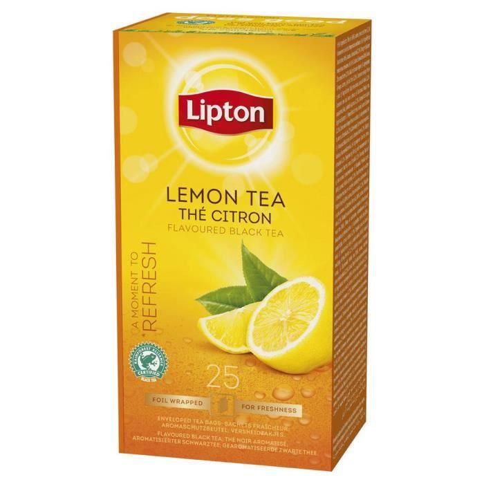 Boîte de 25 sachets de thé citron