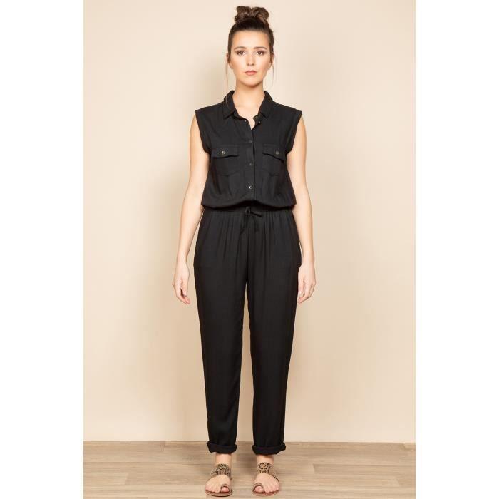 DEELUXE Combinaison à col chemise SAVINA Black