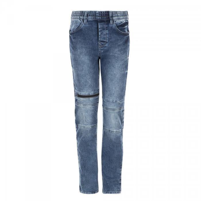 RIVALDI - Pantalon denim taille élastiquée - Bleu - Enfant Garçon