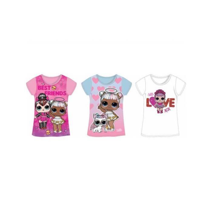 T-shirt manches courtes Lol Surprise Kidparadise 3ans