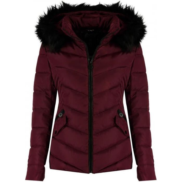 Doudoune bordeaux fille Geographical Norway Chips