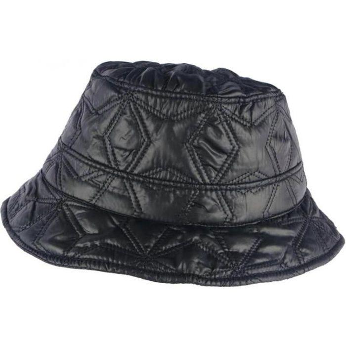 Chapeau de Pluie Femme Noir Reny Doublure Coton Nyls Création - Taille unique - Noir