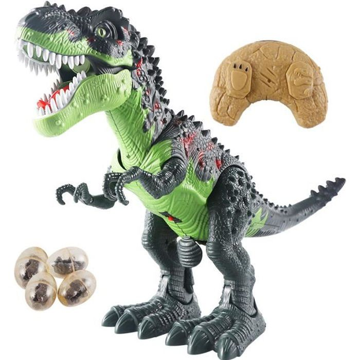 Télécommande dinosaure tyrannosaure sons d'animaux électriques marche animaux jouet musique lumière pulvérisation jouets
