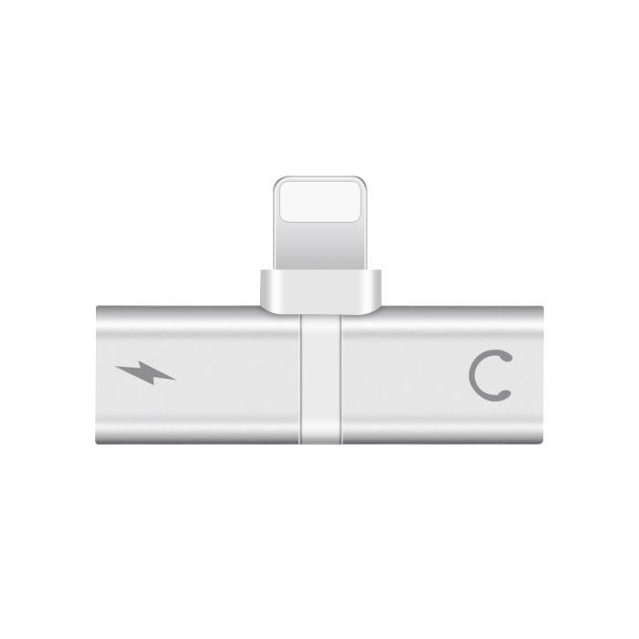 Adaptateur Écouteurs 2 En 1 - Mini Chargeur Splitter Adaptateur De Casque Audio