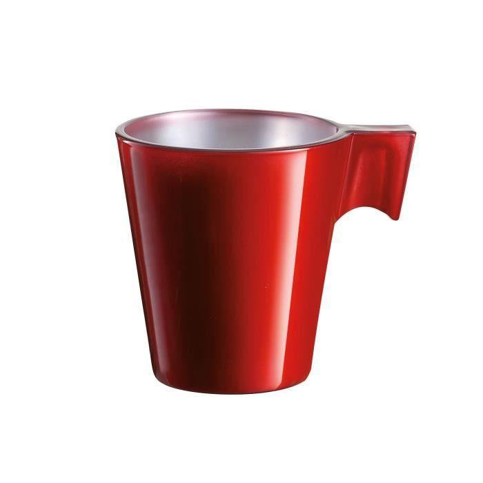 Tasse expresso métallisé rouge (8cl)