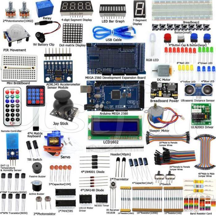 Diy Kit Mega 2560 pour Raspberry Pi Model B , pour Arduino. Diy Arduino Kit de Démarrage