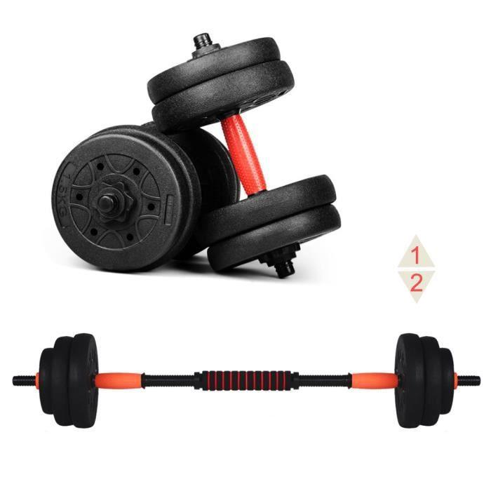 Ensemble d'haltères musculation réglable HB003