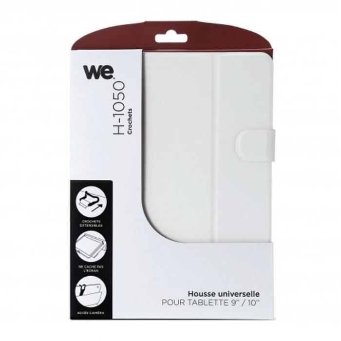 WE Etui Universel Tablettes 10- Crochet- Blanc