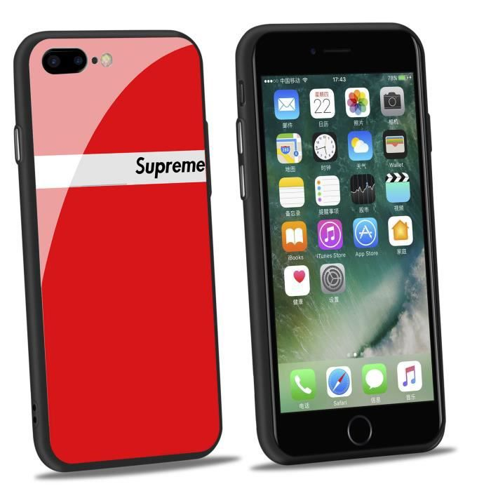 coque iphone 8 rouge supreme