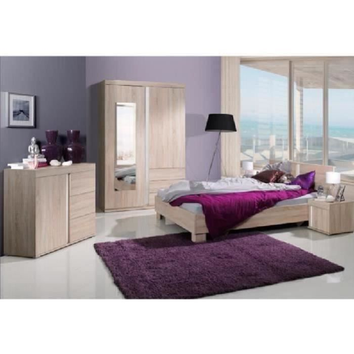 Chambre coucher compl te adulte avignon lit armoire for Chambre a coucher adulte discount