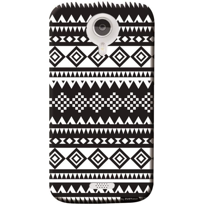 coque motif azteque noir et blanc pour wiko cink five. Black Bedroom Furniture Sets. Home Design Ideas