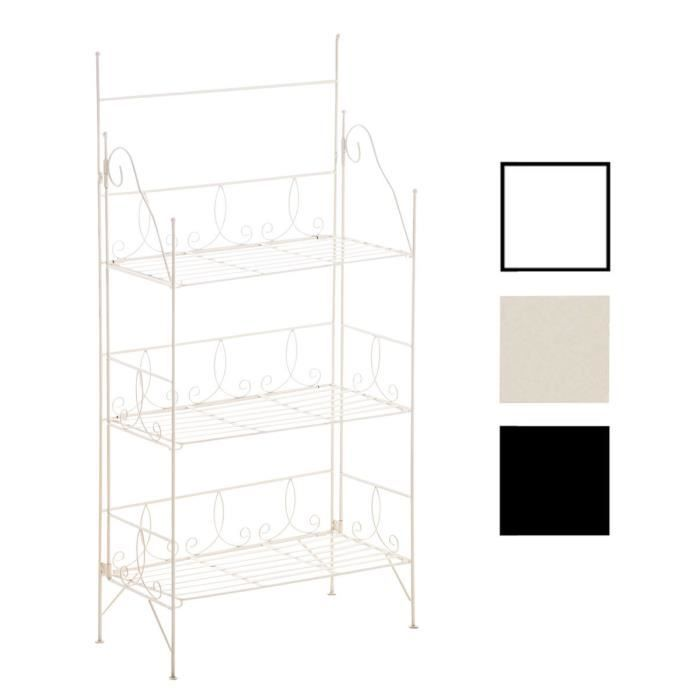 etagere en fer forge achat vente etagere en fer forge pas cher soldes d s le 10 janvier. Black Bedroom Furniture Sets. Home Design Ideas