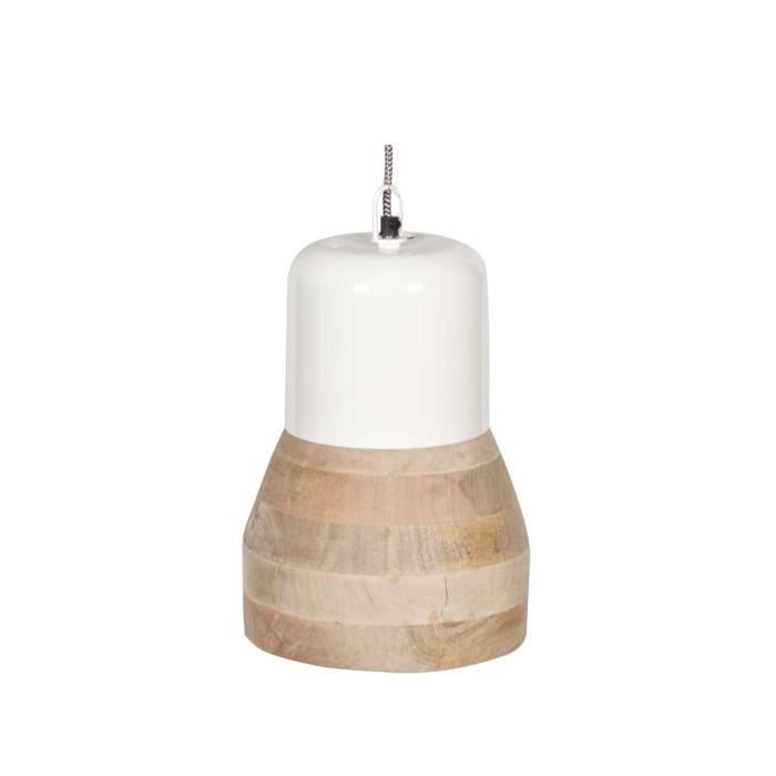 Suspension luminaire bois m tal salt and pepper big for Suspension bois luminaire