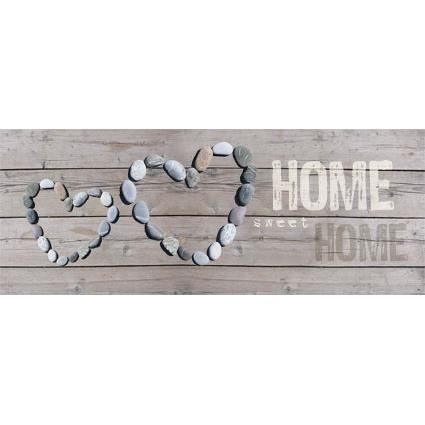 Sweet home tableau d co toile imprim e 40x100cm achat for Deco home sweet home