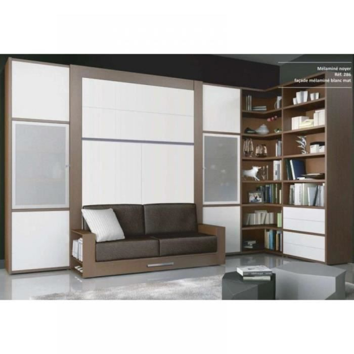 armoire lit escamotable avec canap squadra cou achat. Black Bedroom Furniture Sets. Home Design Ideas