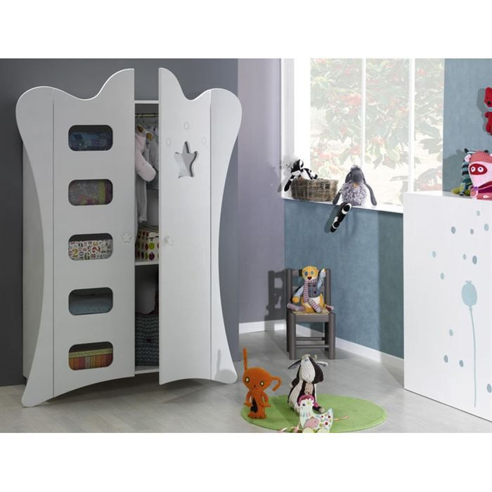 sofamo armoire king blanc achat vente armoire. Black Bedroom Furniture Sets. Home Design Ideas