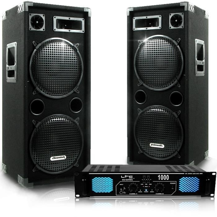 pack dj sono set 2 enceintes ampli ltc eq 2x500w pack sono avis et prix pas cher cdiscount. Black Bedroom Furniture Sets. Home Design Ideas