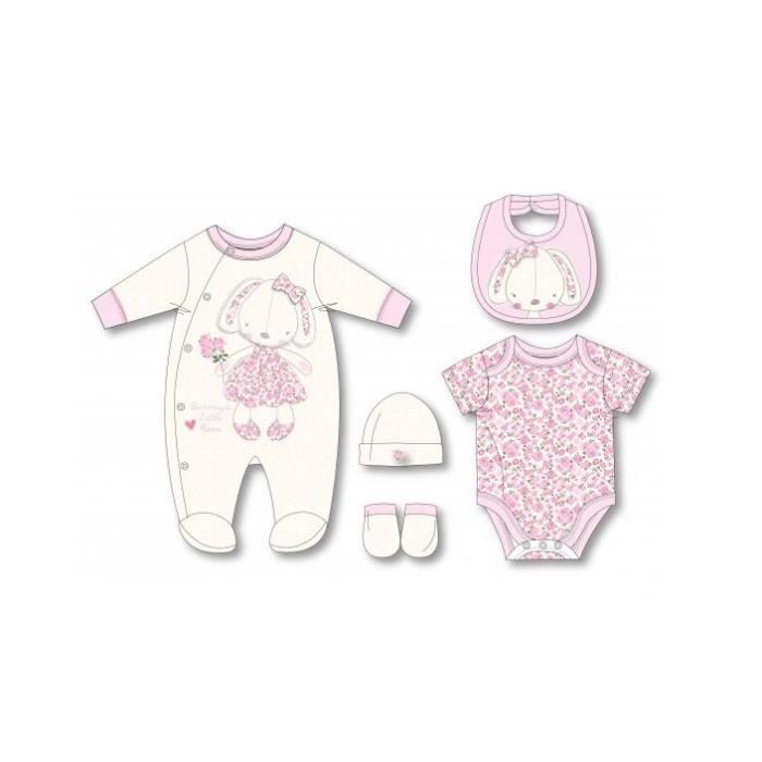 ensemble cadeau de naissance b b fille pyjama body bonnet. Black Bedroom Furniture Sets. Home Design Ideas