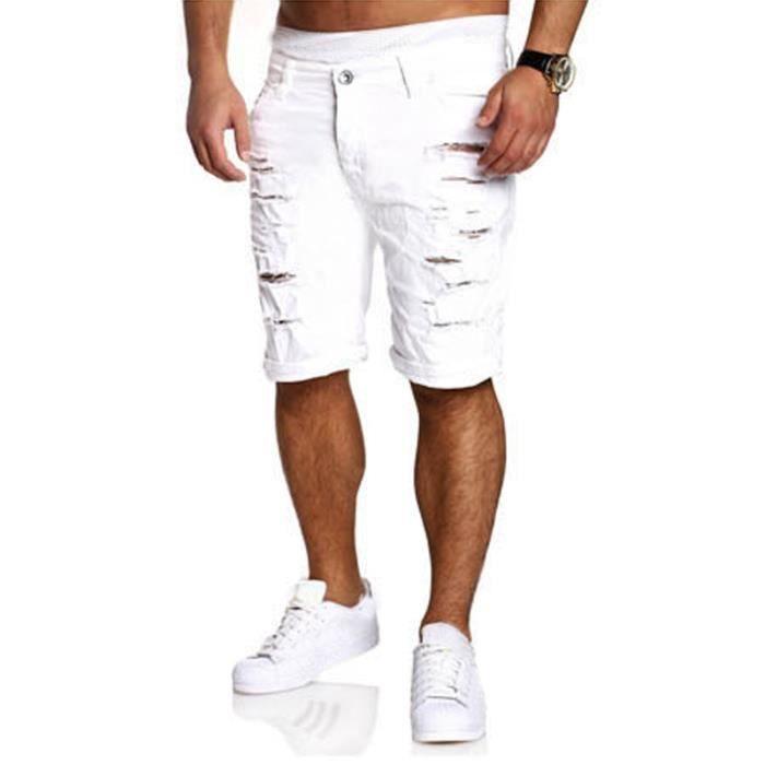ZANZEA Short Homme Jeans Mode Décontracté