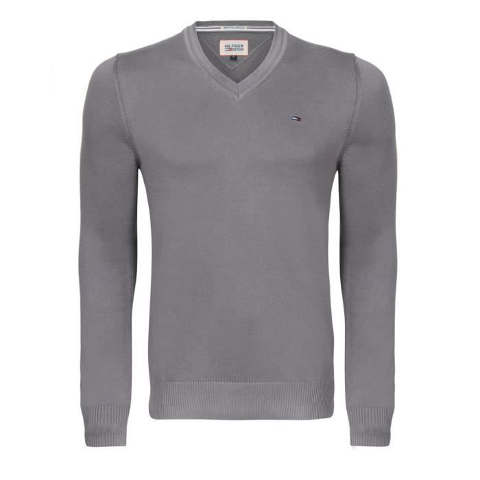 Tommy Hilfiger Pull Hommes Blanc Blanc - Achat   Vente pull - Soldes ... 6c23316d640