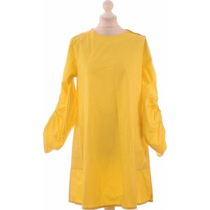 Robe Zara Occasion Tres Bon Etat Jaune Achat Vente Robe Cdiscount