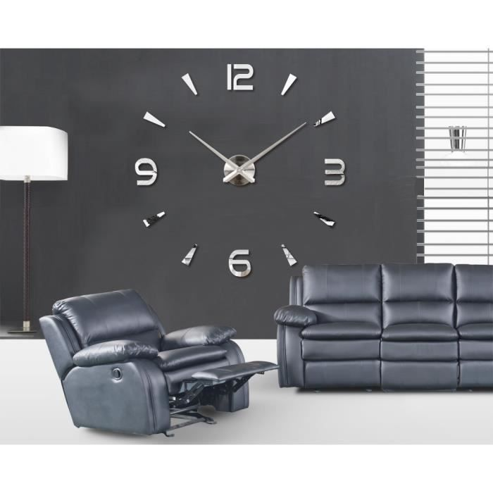 horloge murale design 3d achat vente horloge murale design 3d pas cher les soldes sur. Black Bedroom Furniture Sets. Home Design Ideas