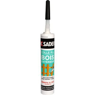 Colle sader bois ex pu gel340g achat vente colle for Colle a bois exterieur sader
