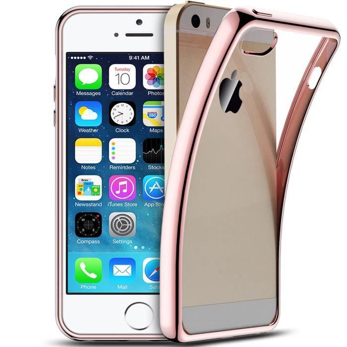coque iphone se 5s 5 silicone transparente housse