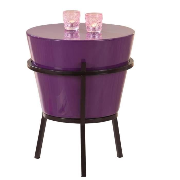tabouret relaxar violet noir achat vente tabouret. Black Bedroom Furniture Sets. Home Design Ideas
