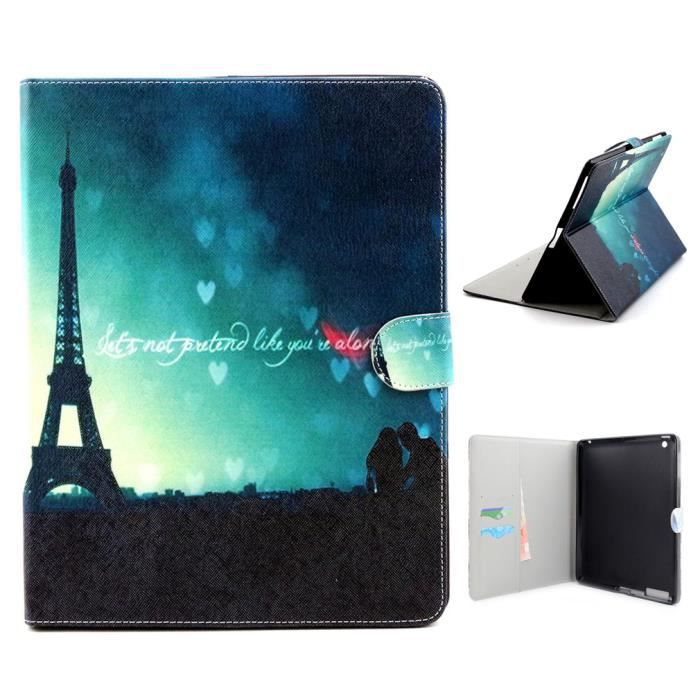 tutuwen pour apple ipad mini 4 coque housse tui rabat fran ais tour eiffel amour pu cuir. Black Bedroom Furniture Sets. Home Design Ideas
