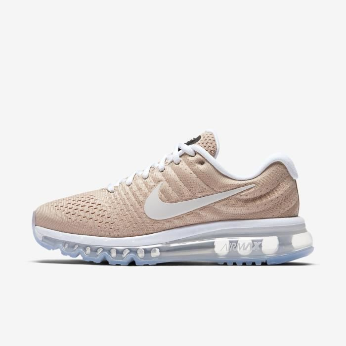 Baskets Nike Air Max 2017, Modèle WMNS 849560 200 Nude.