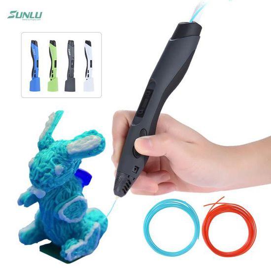 Seulement 55g Vert 8 Vitesses Costume pour Adultes et Enfants PLA//ABS de 1,75 mm BLUSPOT Stylo 3D SL-300