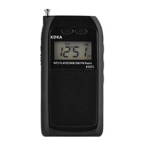 Donpow Mini radio Am FM Radio de poche Tuner num/érique portable Radio st/ér/éo avec /écouteurs Batterie rechargeable de poche pour marche//course//gymnastique//camping