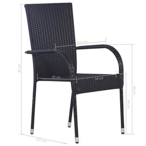 CHAISE Tidyard 2 pcs Chaise Empilable Bois | Chaise de Ja