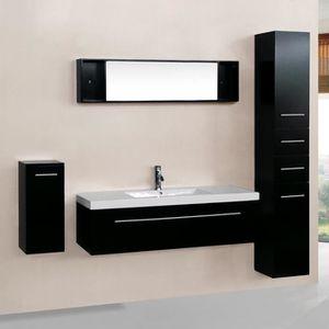 SALLE DE BAIN COMPLETE Meuble de salle de bain Agathe 1 vasque + 1 miroir