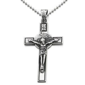 PENDENTIF VENDU SEUL Vintage Pendentif Croix Christ Jésus Crucifix Coll