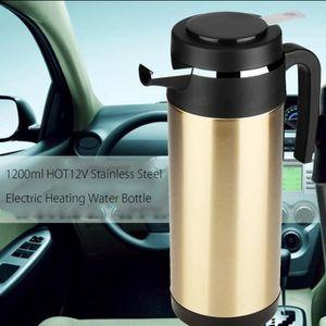 12 V//24 V 1300 ml en acier inoxydable voiture camion voyage bouilloire /électrique pot chauff/é tasse deau bouilloires /électriques en acier inoxydable voiture camion voyage th/éi/ère 24V