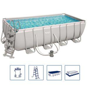 PISCINE Bestway Jeu de piscine Power Steel Rectangulaire 4