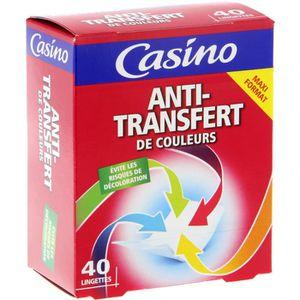 ANTI-DECOLORATION Lot de 40 lingettes anti-transfert de couleur