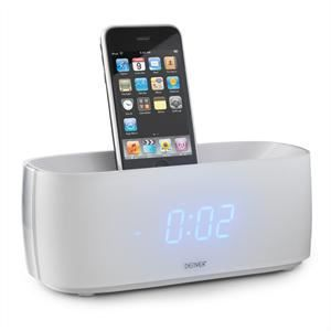radio r veil iphone ipod aux blanc station d 39 accueil. Black Bedroom Furniture Sets. Home Design Ideas