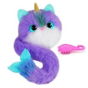PELUCHE POMSIES Peluche  Bubble - Narval violet et blanc