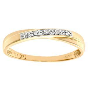 BAGUE - ANNEAU Revoni Bague alliance Diamant Or Jaune 375° Femme: